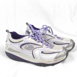 Skechers Shape Ups White, Silver & Purple Size 8